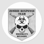 Zombie Response Team: Brooklyn Division Classic Round Sticker