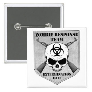 Zombie Response Team Pinback Buttons