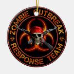 Zombie Response Team Ceramic Ornament
