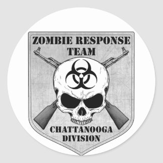 Zombie Response Team: Chattanooga Division Round Stickers
