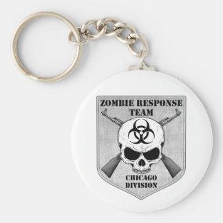 Zombie Response Team: Chicago Division Basic Round Button Keychain