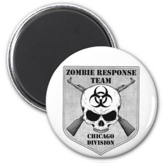 Zombie Response Team Chicago Division Fridge Magnets
