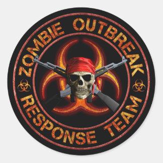 Zombie Response Team Classic Round Sticker