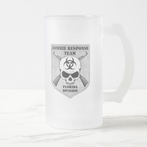 Zombie Response Team: Florida Division 16 Oz Frosted Glass Beer Mug