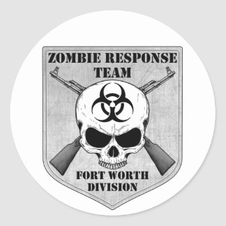 Zombie Response Team: Fort Worth Division Classic Round Sticker