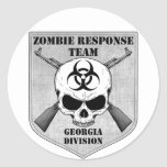 Zombie Response Team: Georgia Division Round Stickers