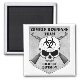 Zombie Response Team: Gilbert Division 2 Inch Square Magnet