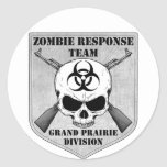 Zombie Response Team: Grand Prairie Division Round Stickers