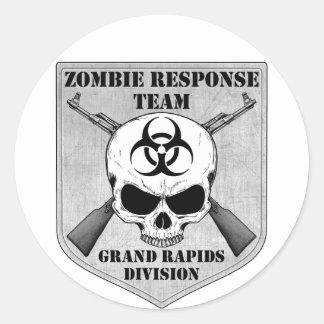 Zombie Response Team: Grand Rapids Division Classic Round Sticker