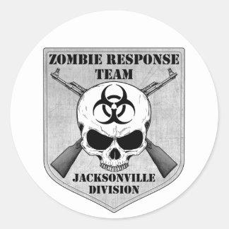 Zombie Response Team: Jacksonville Division Classic Round Sticker