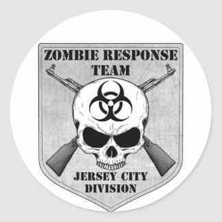 Zombie Response Team: Jersey City Division Round Stickers