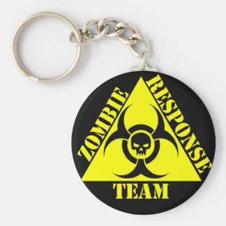 Zombie Response team Keep calm and kill zombies Basic Round Button Keychain