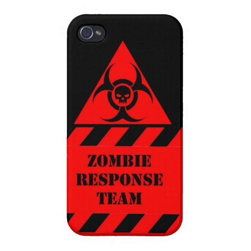 Zombie response team keep calm and kill zombies case for iPhone 4