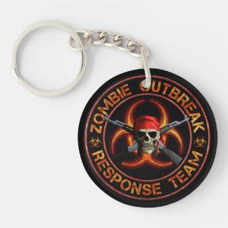 Zombie Response Team Round Acrylic Keychain