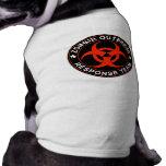 Zombie Response Team Kill Walkers Dead Dog T-shirt