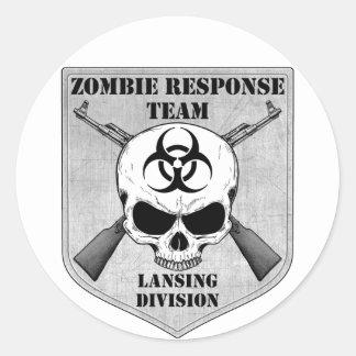 Zombie Response Team: Lansing Division Classic Round Sticker