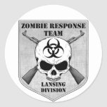 Zombie Response Team: Lansing Division Round Sticker