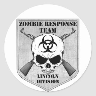 Zombie Response Team: Lincoln Division Round Sticker