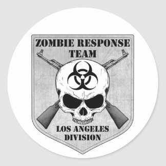 Zombie Response Team: Los Angeles Division Classic Round Sticker