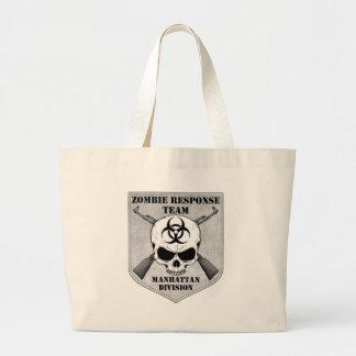 Zombie Response Team: Manhattan Division Large Tote Bag