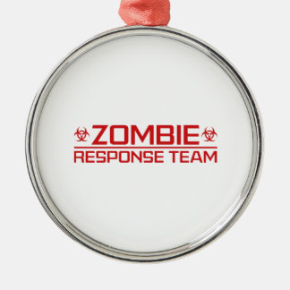 Zombie Response Team Metal Ornament
