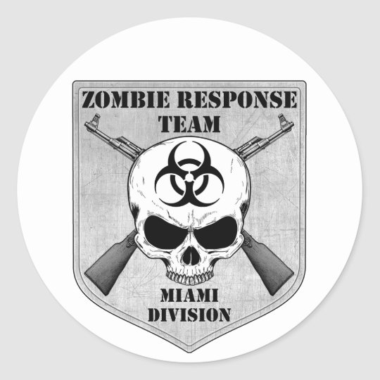 Zombie Response Team: Miami Division Classic Round Sticker