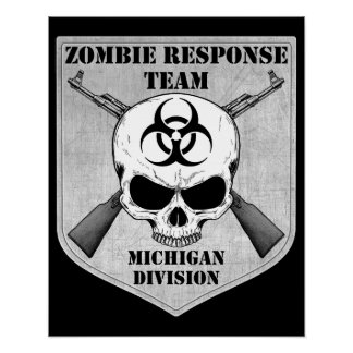 Zombie Response Team: Michigan Division Poster