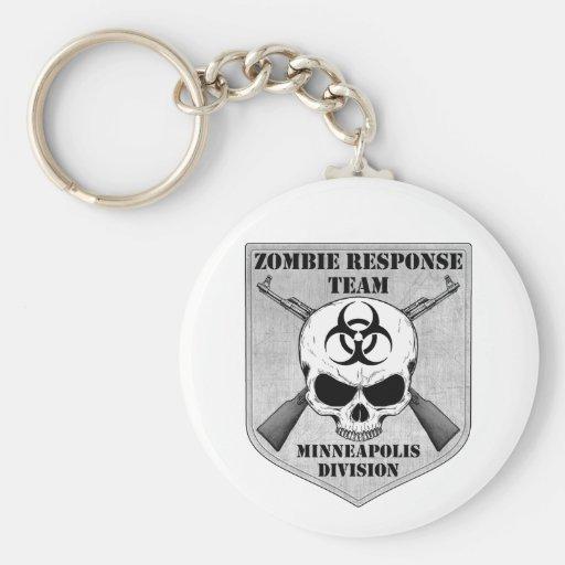 Zombie Response Team: Minneapolis Division Basic Round Button Keychain