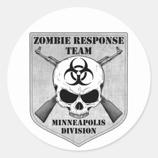 Zombie Response Team: Minneapolis Division Classic Round Sticker
