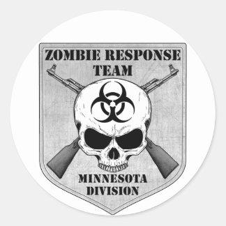 Zombie Response Team: Minnesota Division Classic Round Sticker