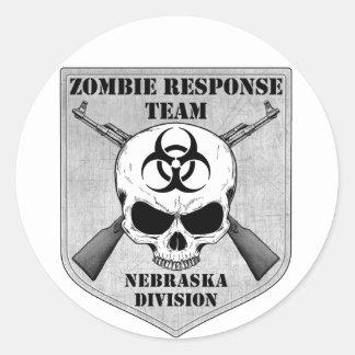 Zombie Response Team: Nebraska Division Classic Round Sticker
