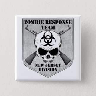 Zombie Response Team: New Jersey Division Button