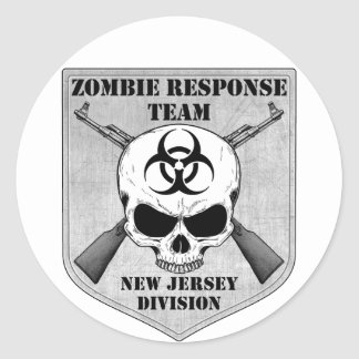 Zombie Response Team: New Jersey Division Classic Round Sticker