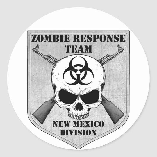 Zombie Response Team: New Mexico Division Classic Round Sticker