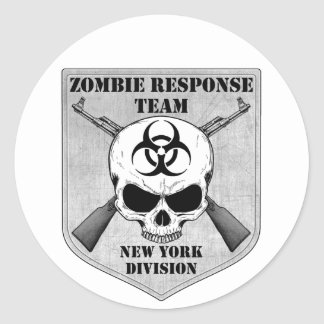 Zombie Response Team: New York Division Classic Round Sticker