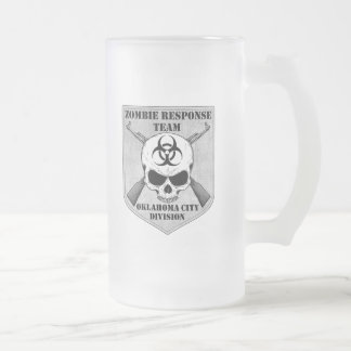 Zombie Response Team: Oklahoma City Division Frosted Glass Beer Mug