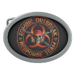 Zombie Response Team Oval Belt Buckle