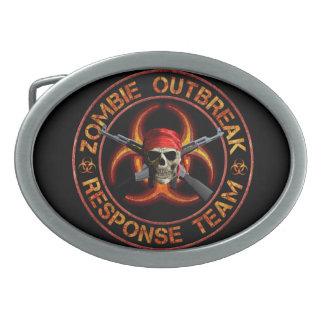 Zombie Response Team Oval Belt Buckle