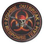 Zombie Response Team Party Plates