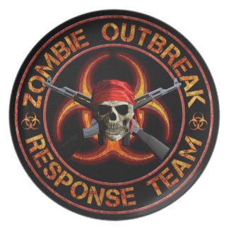 Zombie Response Team Plate