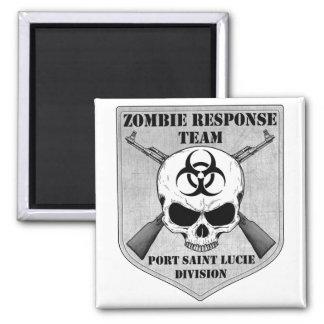 Zombie Response Team: Port Saint Lucie Division 2 Inch Square Magnet
