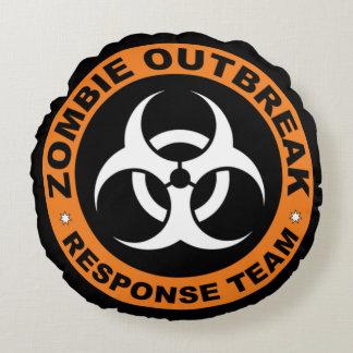 Zombie Response Team Round Pillow