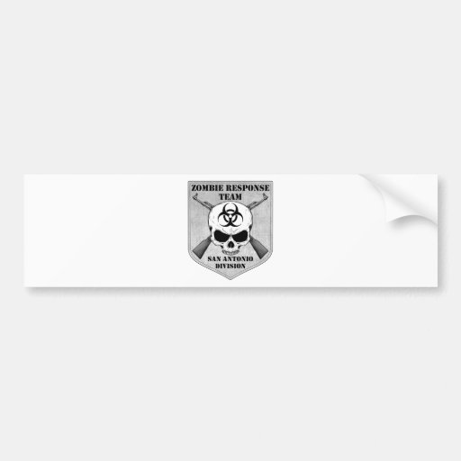 Zombie Response Team: San Antonio Division Bumper Sticker