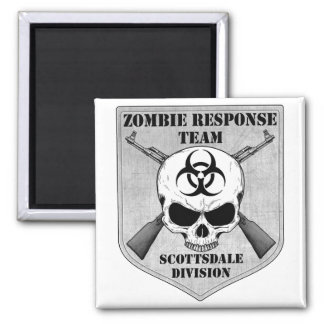 Zombie Response Team: Scottsdale Division 2 Inch Square Magnet