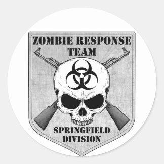 Zombie Response Team: Springfield Division Classic Round Sticker