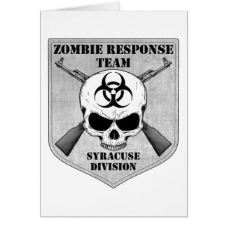 Zombie Response Team: Syracuse Division Card
