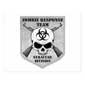 Zombie Response Team: Syracuse Division Postcard