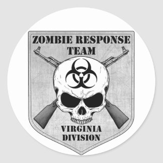 Zombie Response Team: Virginia Division Classic Round Sticker