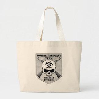 Zombie Response Team: Virginia Division Large Tote Bag