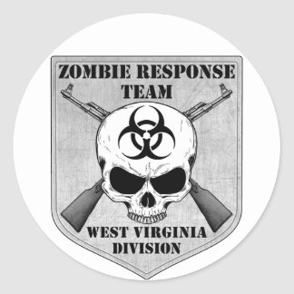 Zombie Response Team: West Virginia Division Classic Round Sticker